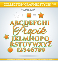 Tropik graphic styles for design use for decor vector