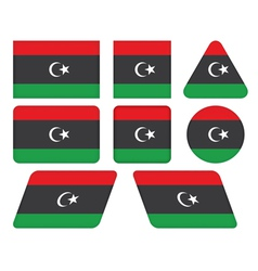 Buttons with flag of libya vector