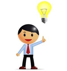 Businessman and idea vector
