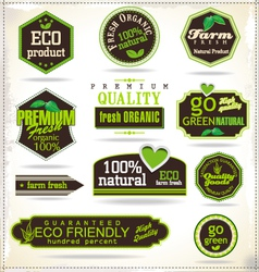 Set of organic labels vector