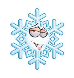 Snowflake emoticon romantic vector