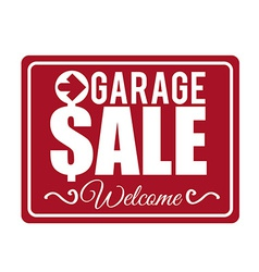 Garage sale design vector