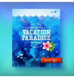 Special offer for a vacation paradise cruise vector