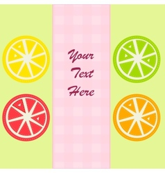 Citrus fruits slices vector