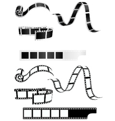 Film strip background collection vector