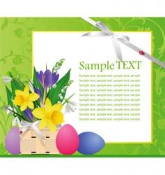 Easter green text vector