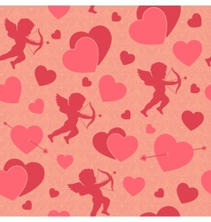 Valentine day seamless romantic pattern vector