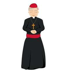 Catholic priest on a white background vector