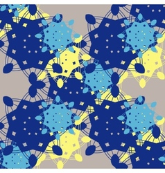 Seamless background made of coloful snowflakes vector