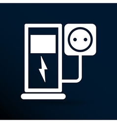 Electric energy supply for cars icons vector