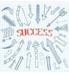 Success arrows icon sketch vector