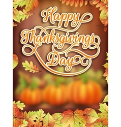Thanksgiving day card with pumpkin eps 10 vector