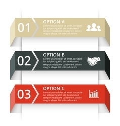 Arrows infographic template for diagram vector