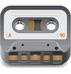 Icon for audio cassette vector