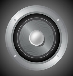 Audio speaker isolated on black background vector
