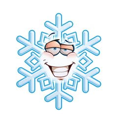 Snowflake emoticon smug vector