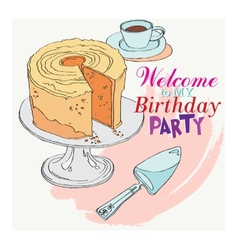 Welcome to the party for my birthday vector