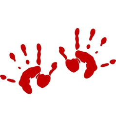 Blood hand prints vector