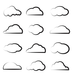 Group of clouds vector
