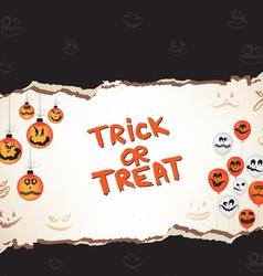 Halloween trick or treat paper vector