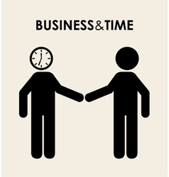 Business time design vector