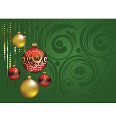 Red and gold christmas balls2 vector