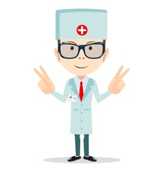 Friendly doctor - dentist vector