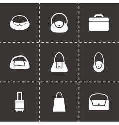 Black bag icon set vector