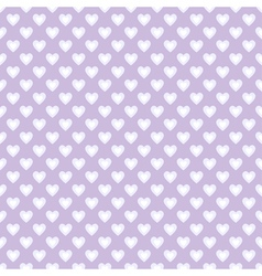 Seamless pattern with hearts in retro style vector