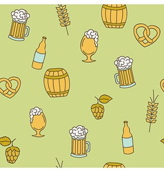 Simple beer seamless pattern vector