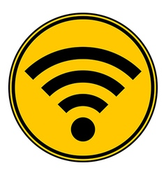 Wi-fi button vector