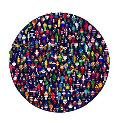 Worldwide people vector
