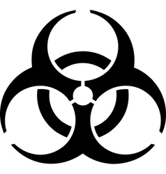 Biohazard warning sign vector