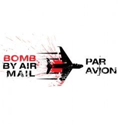 Bomb by air mail vector