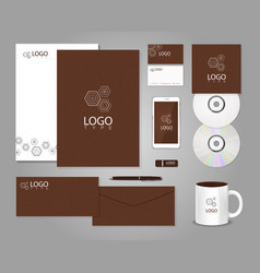 Geometric corporate identity template vector