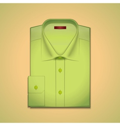 Green classic mens shirt vector