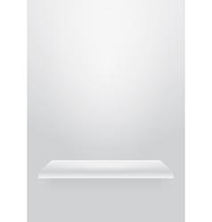 Empty shelf vector