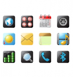 Mobile phone buttons vector