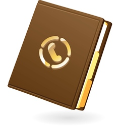 Icon of notebook vector