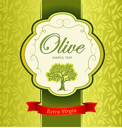 Olive oil background vector