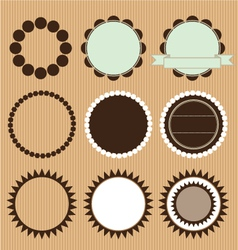 Collection of circle frames vector
