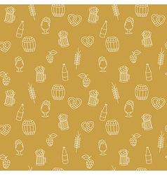 Simple bright beer mug seamless pattern with vector