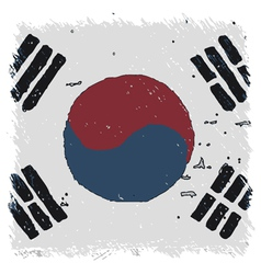 Flag of flag south korea handmade square shape vector
