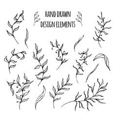 Set of hand drawn design elements vector