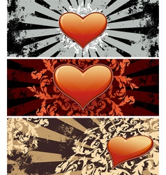 Valentine banners vector