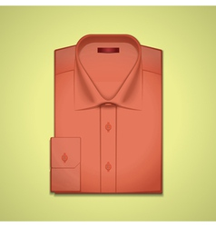 Red classic mens shirt vector