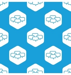 Conference hexagon pattern vector