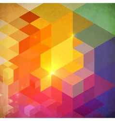 Vibrant colorful abstract geometry background vector