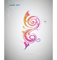 Liquid art artistic design element vector