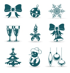 Collect christmas icons vector